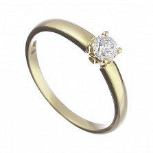 Кольцо из желтого золота Кристель с бриллиантом