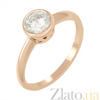Кольцо в красном золоте Нина с фианитом 000022880