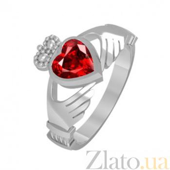 Золотое кольцо с рубином Сердце принцессы KBL--К1101/бел/руб