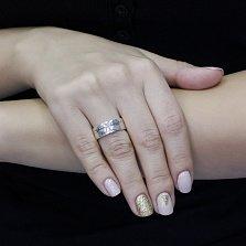 Серебряное кольцо Древо жизни с узорной шинкой и чернением