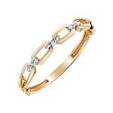 Золотое кольцо Звенья нежности с бриллиантами