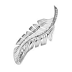 Серебряная брошь с фианитами 000129383