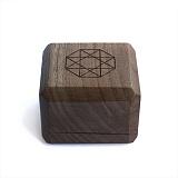 Брендовая деревянная упаковка Zlato для двух колец