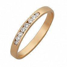 Кольцо Делайла в красном золоте с бриллиантами