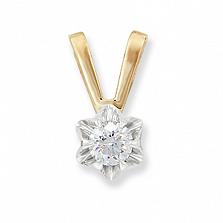 Золотой подвес с бриллиантом Символ роскоши