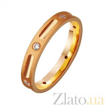Золотое обручальное кольцо с фианитами Елизавета TRF--412769