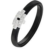 Кольцо из черной керамики с бриллиантами Progressive