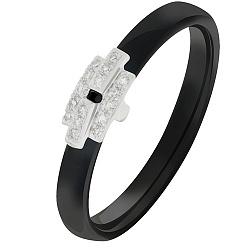 Кольцо из черной керамики с бриллиантами Progressive 000032613