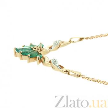 Колье из красного золота с изумрудами и бриллиантами Жизель ZMX--NE-6096_K