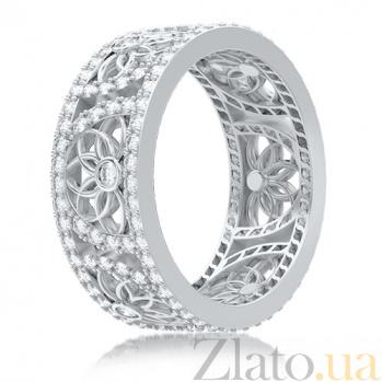 Обручальное кольцо в белом золоте Восторг: Песня Ветра 4023