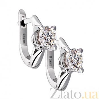 Золотые серьги с бриллиантами Бренда KBL--С2217/бел/брил