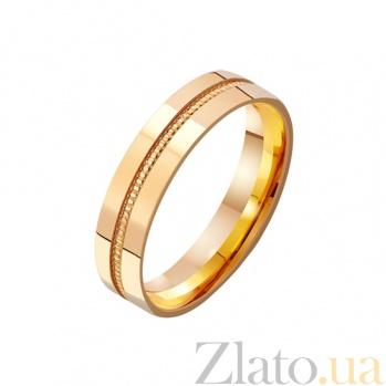 Золотое обручальное кольцо Ты моя страсть TRF--411209
