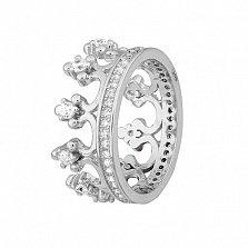 Серебряное кольцо Монархия с фианитами