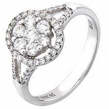 Золотое кольцо Гардения с бриллиантами