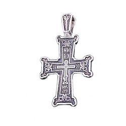 Серебряный крест с чернением НИКА 000020930