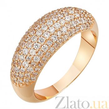Кольцо из красного золота Лоск с фианитами SVA--1195581/Фианит/Цирконий