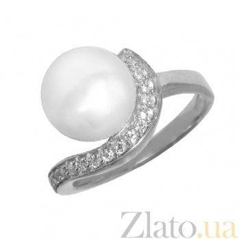 Серебряное кольцо с жемчужиной Дары океана PTL--7к532/35