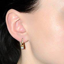 Серьги из красного золота Идиллия с бриллиантами