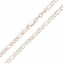 Серебряная цепочка Сарагоса с позолотой