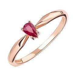 Кольцо из красного золота с рубином 000147927