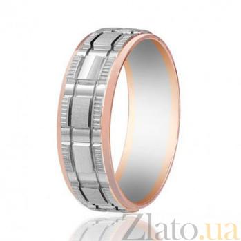 Золотое обручальное кольцо Милитари 000001642