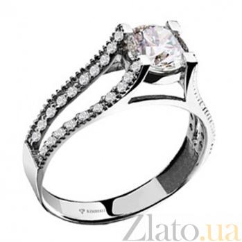 Золотое кольцо с бриллиантами Брижит KBL--К1374/бел/брил