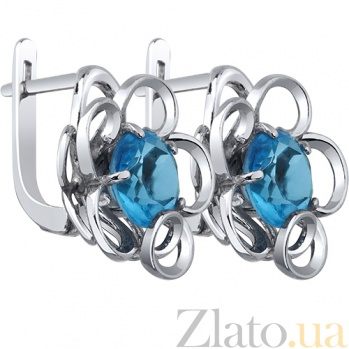 Серебряные серьги Дыхание весны AUR--72749 г