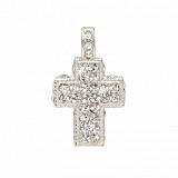 Серебряный декоративный крестик с цирконием Грейс