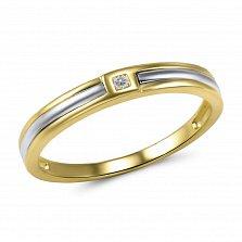 Кольцо из желтого и белого золота Милада с бриллиантом