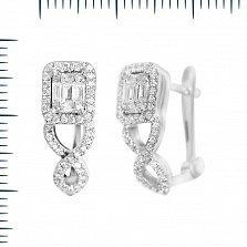Серьги из белого золота Катрина с бриллиантами