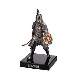 Бронзовая скульптура Воин Золотой Орды на обсидиановой подставке 000051968