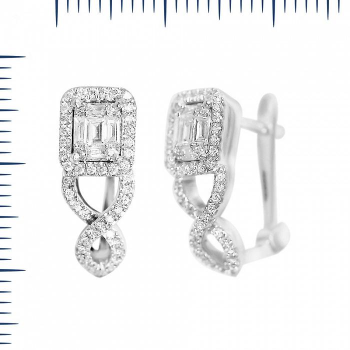 Серьги из белого золота Катрина с бриллиантами 000081274