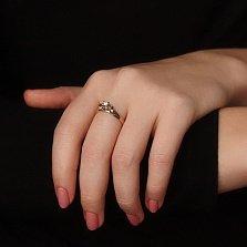 Золотое кольцо Афродита в комбинированном цвете с бриллиантом