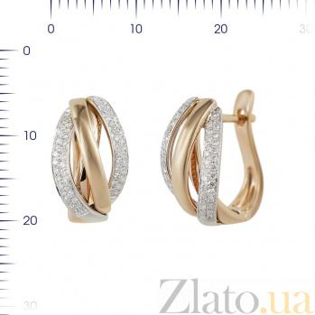 Золотые серьги Зефирайн с бриллиантами 000081115
