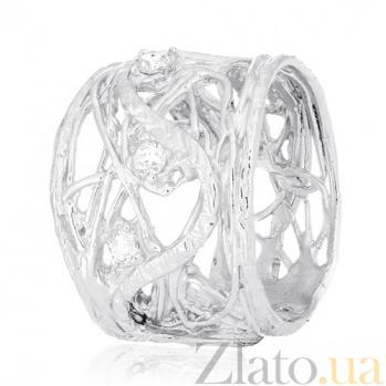 Серебряное кольцо Туман с цирконием 000030982