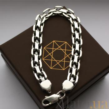Серебряный браслет Клиффорд с чернением, 8,5мм 000035435