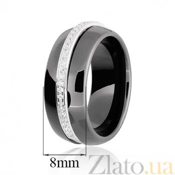 Керамическое кольцо с фианитами Эстер 000025487