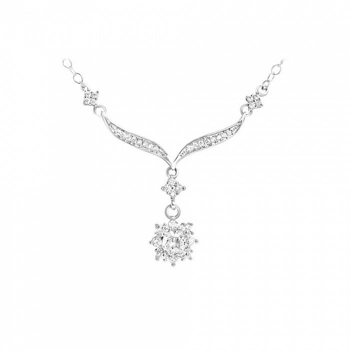 Серебряное колье Неонила с фианитами 000081665