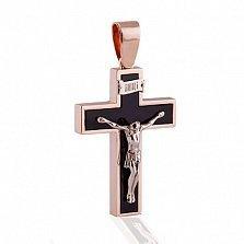 Золотой крест Ахатес с цельным агатом