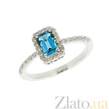 Кольцо в белом золоте с топазом и бриллиантами Блюз ZMX--RT-6602w_K