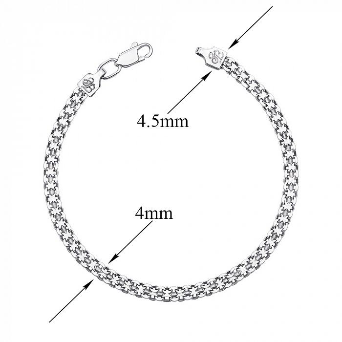 Серебряный браслет Лила в плетении двойной якорь, 4 мм 000118111