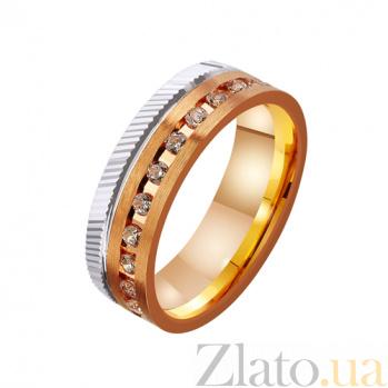 Золотое обручальное кольцо Полет с фианитами TRF--4421226