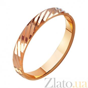 Золотое обручальное кольцо Единение TRF--411008