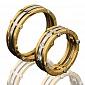 Золотое обручальное кольцо Счастливый союз 000010189