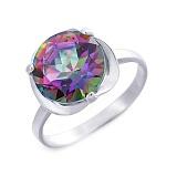 Кольцо серебряное с мистик топазом Ева