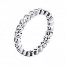 Серебряное кольцо Милана с фианитами