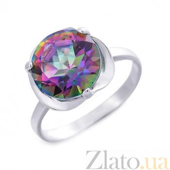 Кольцо серебряное с мистик топазом Ева AQA--R01655MT