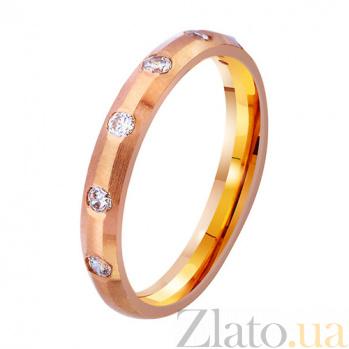 Золотое обручальное кольцо с фианитами Мгновения нежности TRF--4121120