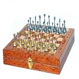 Серебряные шахматы с позолотой Классика