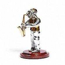 Серебряная статуэтка Саксофонист
